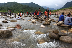 Visit Sylhet for  Landscape (HamimCHOWDHURY  [Active 01 Feb 2016 ]) Tags: landscape nature bichnakandi waterscape skyscape green sylhet jaintapur boat fall water stream stone peoples vacation goainghat bangladesh
