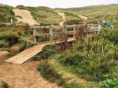 027 Sand dune Bridge (saxonfenken) Tags: 1110corn 1110 bridge wooden cornwall beach sandunes people pregamewinner gamesweep