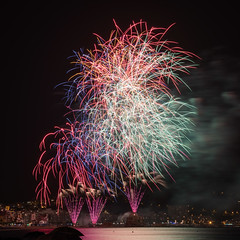 Feuerwerkwettbewerb in Blanes