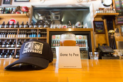 Drinking Pliny at Russian River brewing company (morten f) Tags: drinking pliny russian river brewing company elder ipa craftbeer bar pub taproom pint mikkeller santa rosa california beer craft sour america usa hat cap gone pee coaster
