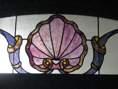 Art Nouveau Stained Glass in a Shopfront  Sturt Street, Ballarat (raaen99) Tags: city pink light sea brown detail building window yellow shop fauna architecture gold pattern purple architecturaldetail decoration shell australia stainedglass victoria artnouveau shade shopwindow nouveau pane 20thcentury windowdetail stainedglasswindow feature edwardian federation ballarat goldrush clamshell 1900s jugendstil artsandcraftsmovement artsandcrafts countryvictoria lightandshade stylised belleepoque rippledglass twentiethcentury bellepoque sturtstreet sturtst architecturalfeature artscraftsmovement goldrushera edwardiana artsandcraftsstyle artscraftsstyle provincialvictoria artnouveaustainedglass artnouveaustainedglasswindow