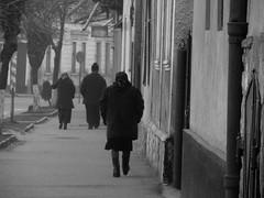 Romania (Maieutica) Tags: street winter bw cold donna strada country bn romania inverno freddo maramures paese signora sighet domna sighetumarmatieimaramures