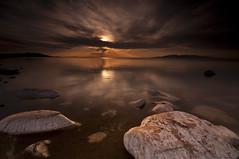 Rusty_DSC2306 (antelope reflection) Tags: sunset color reflection water clouds antelopeisland greatsaltlake utahstatepark nikond90 tamron1024