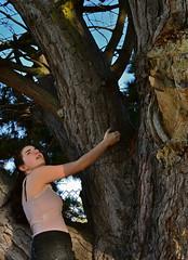 Day Nine: Kellie (tamuz.r.ellazam) Tags: summer portrait selfportrait tree girl climb photoshopped profile ponytail 365 365project