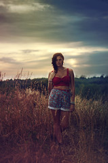 Let the storm roll in. (jesswoodz) Tags: light ohio summer portrait woman black color cute love nature colors girl beautiful field fashion lady night self model woods nikon focus colorful gorgeous hipster young style portraiture teenager fashionable