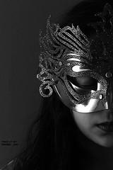 (HADEEL .. ) Tags: white black cute girl long mask