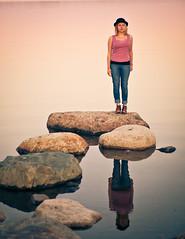 _MG_6865 (Riku N) Tags: ocean sea summer portrait woman beach girl hat finland helsinki arabianranta anni