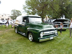 1956 Ford Panel (dave_7) Tags: classic ford truck panel f100 delivery 1956 van lethbridge 2012 2011 showshine streetwheelers