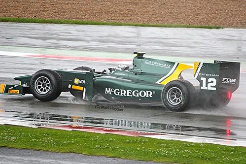 Giedo van der Garde in his Caterham GP2 Car at Silverstone