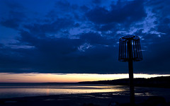 Llanelli beach (Alchimi) Tags: sunset summer west beach wales canon landscape evening llanelli alchimiae artmystics