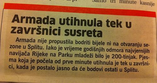 Arada utihnula tek u završnici (Novi List, 21.07.2012)