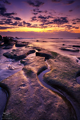 Path To Horizon (eggysayoga) Tags: blue sunset sea bali seascape beach water rock indonesia landscape golden xpro nikon wave tokina hour 121 116 atx cokin gnd canggu gnd8 1116mm d7000 mengening x121s