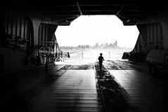(sparth) Tags: seattle leica blackandwhite bw silhouette ferry skyline blackwhite washington downtown washingtonstate 2012 x1 noirblanc leicax1