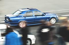 Raceday (Daniel Hans Peter Christensen) Tags: blue motion car racecar speed fence ed denmark mercedes benz high movement nikon zoom racing strip if nikkor spectators 70300mm esbjerg panning danmark vr afs d90 f4556g striben