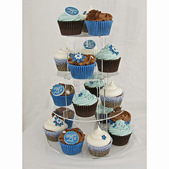 21st Blue & White Cupcakes