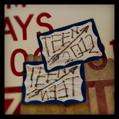 TEEN (billy craven) Tags: chicago graffiti sticker teen handstyles slaptag uploaded:by=instagram qfk