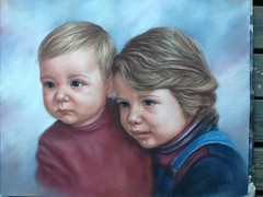 Two Girls - Soft Pastel (oilportrait) Tags: portrait softpastelportrait portraitofgirls