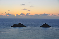 Dawn Above the Mokuluas (XJCreations) Tags: sunrise hawaii oahu hiking lanikai bunkers pillboxes kawiaridge