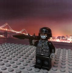 RPG-7 - Explosive City (Brick Supernova) Tags: city sunset black brick skyline arms rpg ba gi rpg7 brickarms eclipsegrafx gibrick