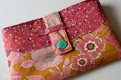 The Greyling Tablet Case Tutorial (luvinthemommyhood) Tags: pink blue orange white gold pattern handmade turquoise sew case button mauve clutch tablet tutorial tab sewn summerlove ipad artgalleryfabrics luvinthemommyhood patbravo