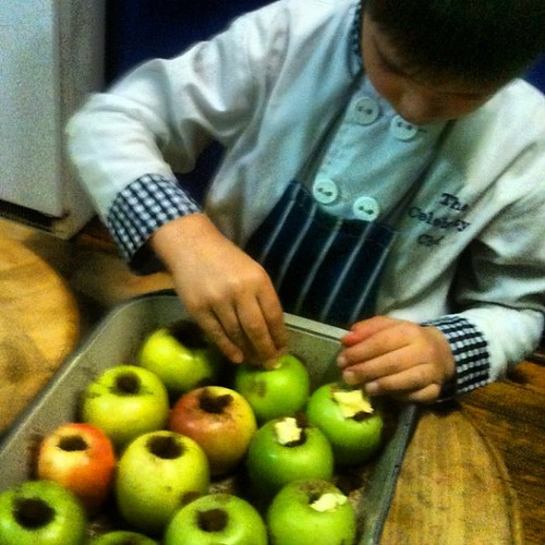 The celebrity chef is preparing baked apples tonight... 'Tis the season!!!