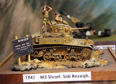 M3 Stuart (Honey) (SHMR) Tags: britishtank northafricaww2 muckleburghmilitarycollectionmuseumweyburnenorfolkmodelcollectionmodeldisplay2012 m3stuarthoney