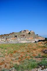 Lycian Kingdom, Turkey (RSL.) Tags: portrait sky holiday castle grass turkey landscape ruins view hill kingdom lycian lyciankingdom