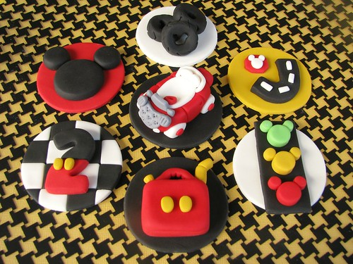 Mickey's Road Rally Cupcake Toppers