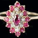4009. Diamond and Ruby Ring