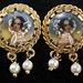 4042. Gold Portrait Earrings
