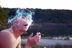 ...on my way. (Seth Ferreira) Tags: life white lake green youth outside outdoors still hand skin smoke magic breath young cigar smoking hippie vapor breathing drift inhale waft