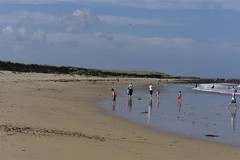 16-8-2012 (Copperhobnob) Tags: sea summer sky people playing beach clouds fun sand waves aberdeenshire stcombs