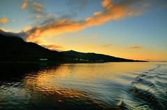 sunset Vengsy (John A.Hemmingsen) Tags: sunset sky sun seascape reflection water colors clouds nordnorge troms vengsy nikonflickraward nikkor1685dx nikond7000