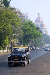 Mumbai Taxi, Apollo Bunder Road (Malc ) Tags: india hotel photo photos taxi transport tajmahal bombay maharashtra mumbai transporting photosof apollobunder mumbaitaxi tajgroup thetajmahalpalace tajhotelsresortsandpalaces