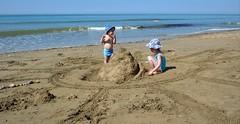 Sandcastle On The Beach (foilman) Tags: beach jasper poppy sandcastle
