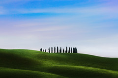Scratches (Coveredinice [cara ragazza d'altri tempi]) Tags: sky italy field landscape countryside italia earth wheat country campagna cielo tuscany fields toscana scape terra campagne scapes grano coveredinice nuvoleclouds