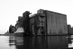 "Lake freighter Saginaw docked at grain elevator • <a style=""font-size:0.8em;"" href=""http://www.flickr.com/photos/59137086@N08/7855001606/"" target=""_blank"">View on Flickr</a>"