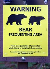 Bear Sign 1 (jb_baskin) Tags: sign yellow warning bears glacier barry baskin barrybaskin jbbaskin