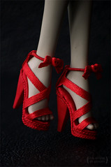 Shoes for Monster High (Trotilla) Tags: red shoes dress handmade frankie 2012 201208 monsterhigh
