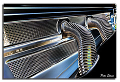 Power pipes......... (pete stone) Tags: car wow kent classiccar pipes engine grill chrome topaz folkestone shepway canoneos5d creativephotography eastkentcameras oldtimerscarralley