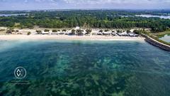 Views over the surf spot of Serangan. (wrightontheroad) Tags: beachhut serangan surf turtleisland remotelocation denpasarselatan bali indonesia
