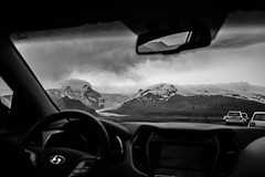 driving into the mountains (caseglb) Tags: east iceland canon t2i 24mm black white bw creamtone landscape nature hofn reykjavik vacation travel study abroad studyabroad