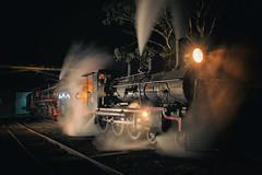Night Ops (SJB Rail) Tags: pb15 448 ac16 221a steam trains railways railroads queensland qpsr night australia