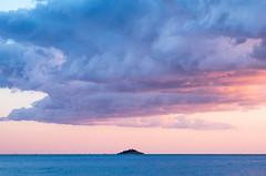 Fantasy Island (The Green Album) Tags: rovinj croatia istria island fantasy minimalist small horizon sea water sunset clouds pink colourful nature