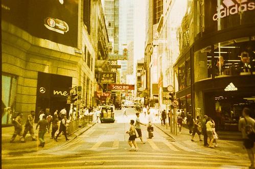 Hong Kong Street / Lomography Slide / XPro / Lomo LC-A+
