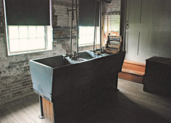 Canterbury Shaker Village - Canterbury, NH (pag2525) Tags: canterburyshakervillagecanterbury nhnewhampshirenewhampshire laundry building sinks
