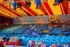 And it's 6 from 2 from 5 now.. (zawtowers) Tags: brighton sussex seaside resort city centre august 2016 warm sunny blue sky sunshine dry palace pier historic landmark amusement funfair fun fair opened 1899 dolphin derby kentucky roll ball hole expensive game two pounds play four balls