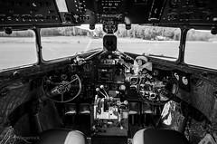 Douglas DC3 Cockpit (TimWiegerinck) Tags: douglas dc 3 dc3 dakota black white bw vintage nikon dlsr d5100 samyang 14mm f28 rokinon sweden