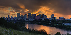 Edmonton Sunset (John Payzant) Tags: edmonton alberta canada hdr panorama