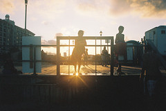 Sun's going down (andrewkatchen) Tags: asburypark newjersey jerseyshore beach ocean nikon film 35mm portra400 n6006